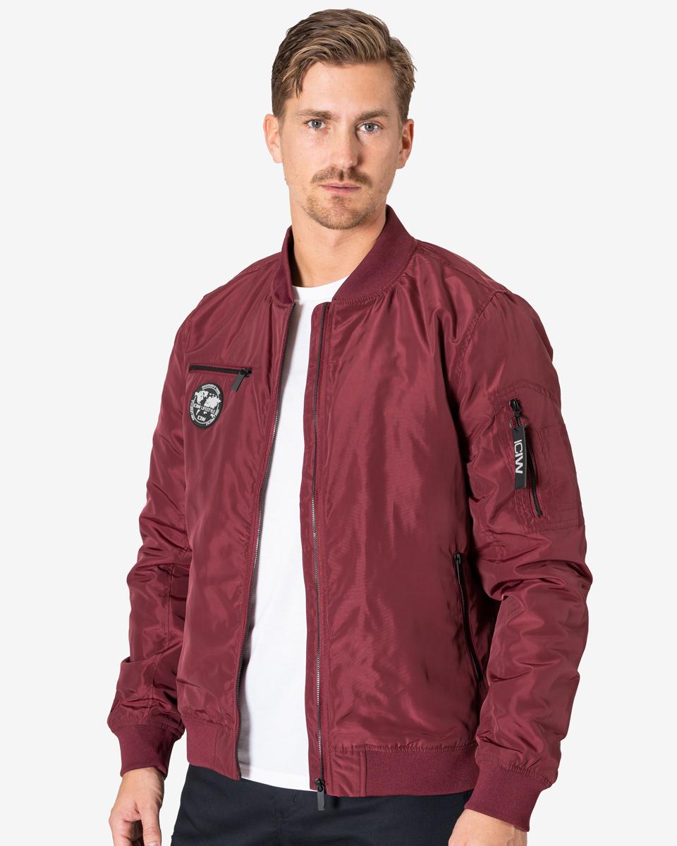 Lifestyle Bomber Jacket Burgundy Men