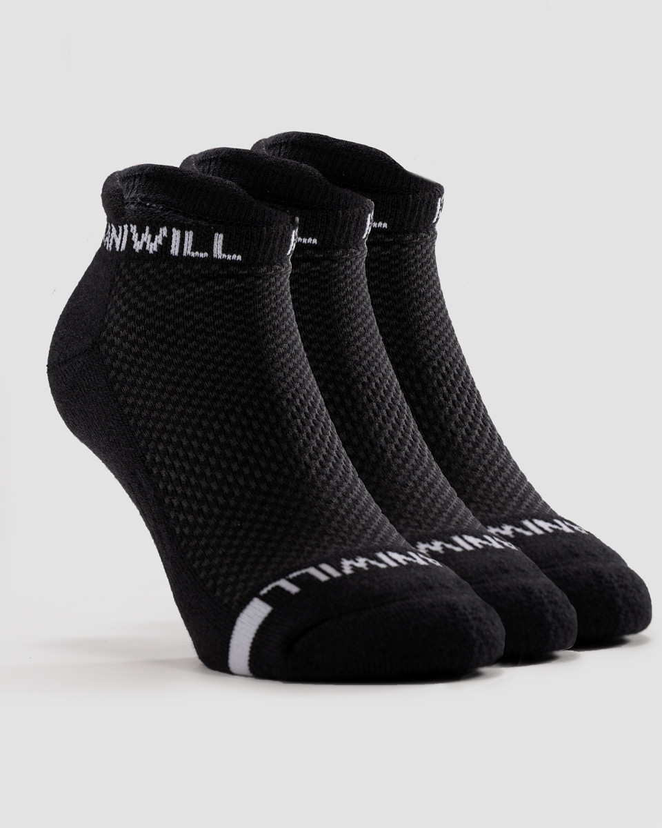 Perform Socks 3-pack Black/White