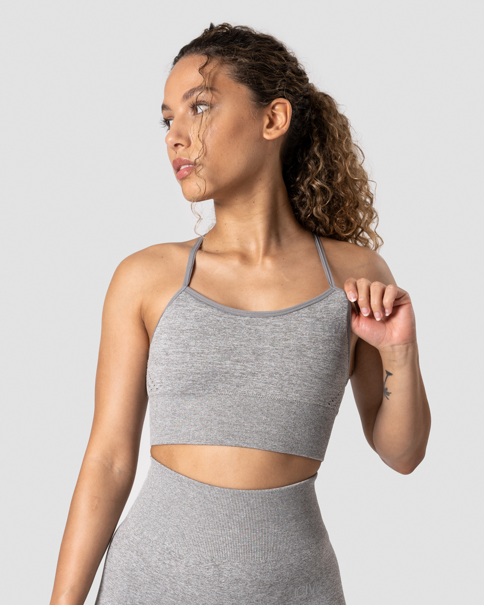 Queen Mesh Sports Bra Taupe