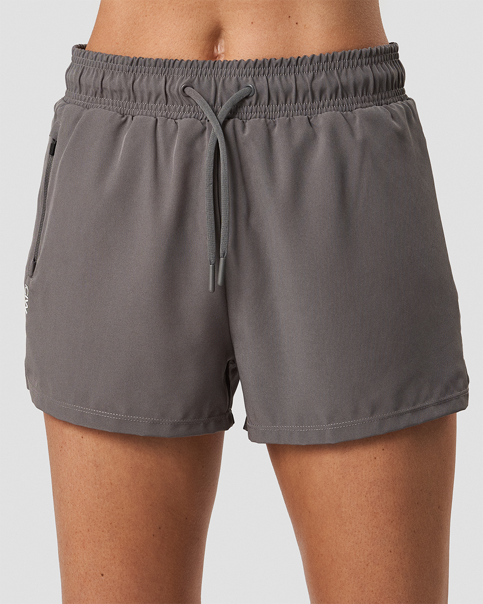Devotion Running Shorts Dk Grey Wmn