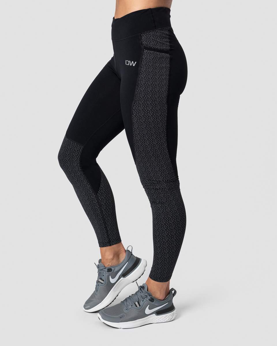 Outdoor Training Reflective Tights Wmn Black