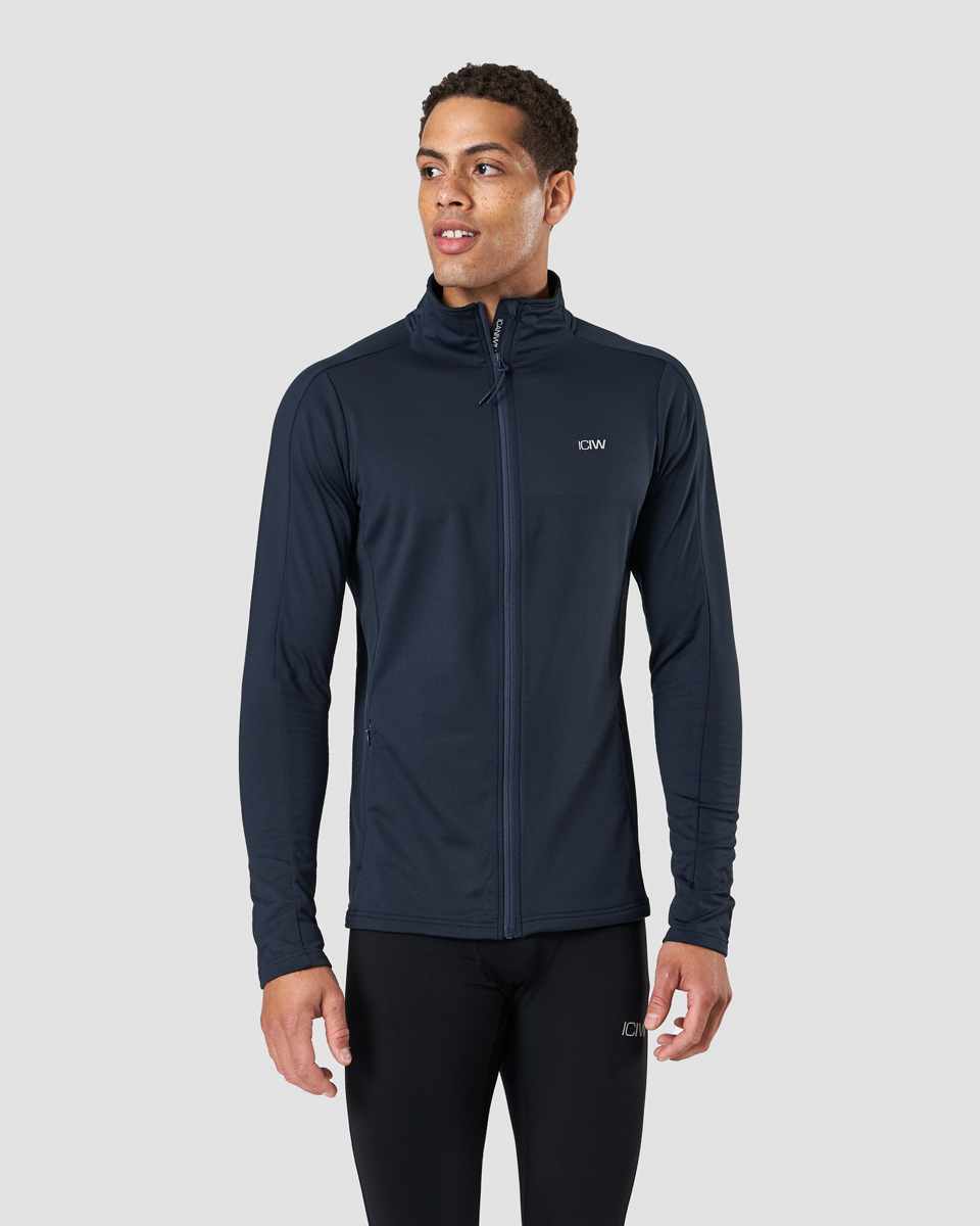 Outdoor Training Fleece Zip Petrol Blue