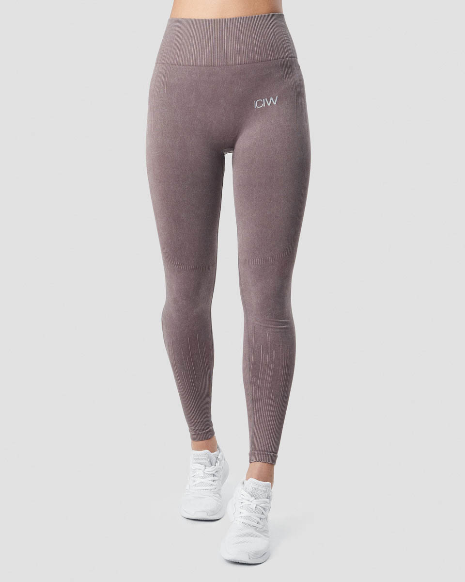 Eclipse Stonewashed Tights Mauve Wmn