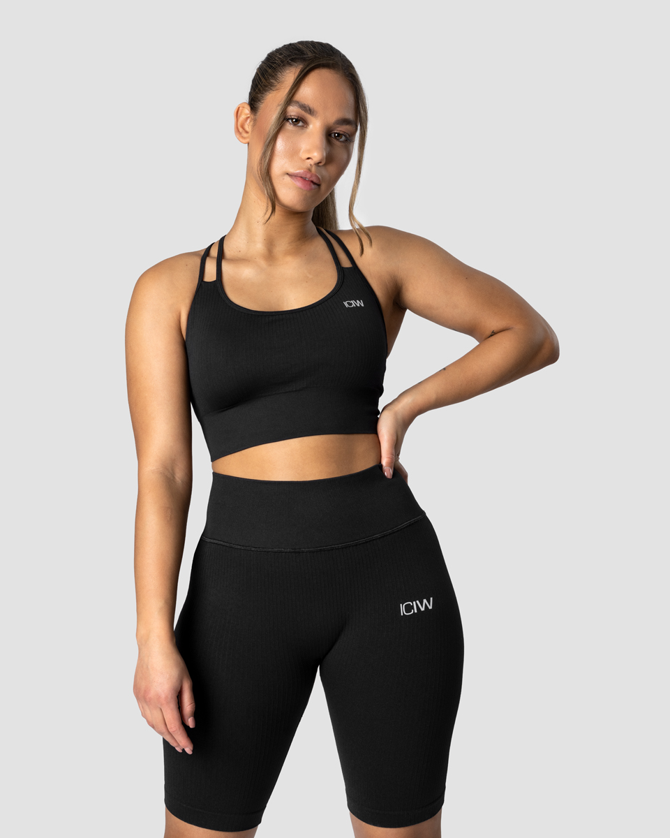 Ribbed Define Seamless Sports Bra Black