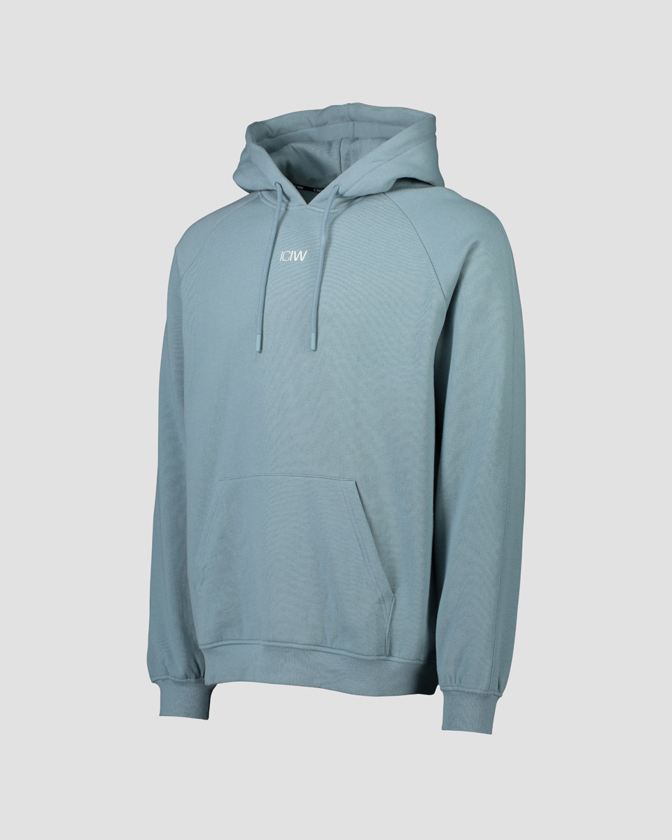 Essential Hoodie Loose Fit Pale Blue Men