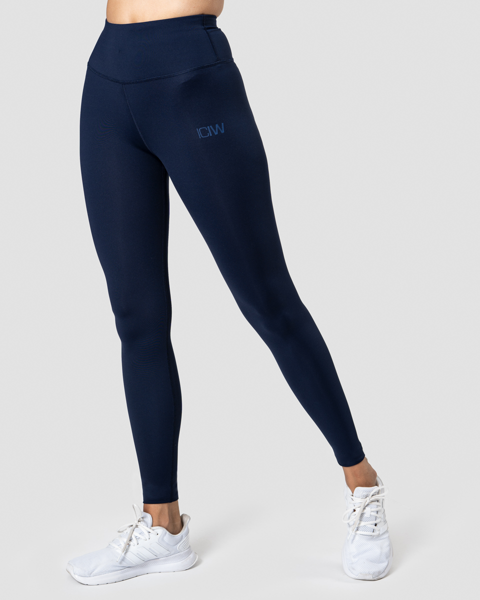 Classic High Waist Tights Navy Wmn