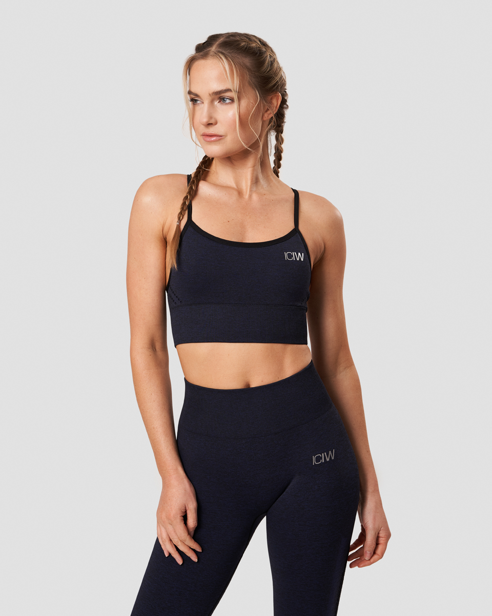 Queen Mesh Sports Bra Navy Melange